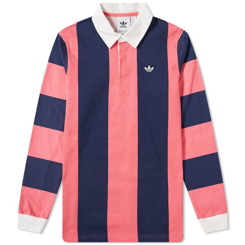 Adidas Rugby Shirt Night Indigo & Real Pink
