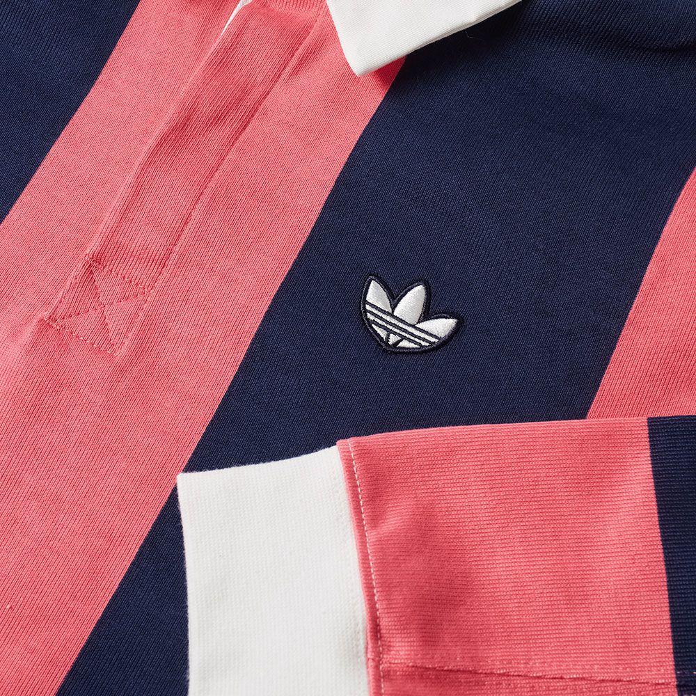 1625cc03a36bb Adidas Rugby Shirt Night Indigo   Real Pink