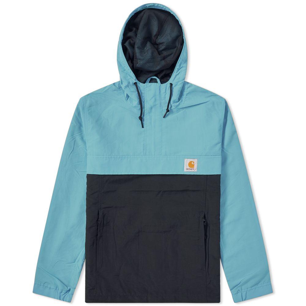 5773fe6a84f Carhartt Nimbus Two-Tone Pullover Jacket Soft Teal   Black