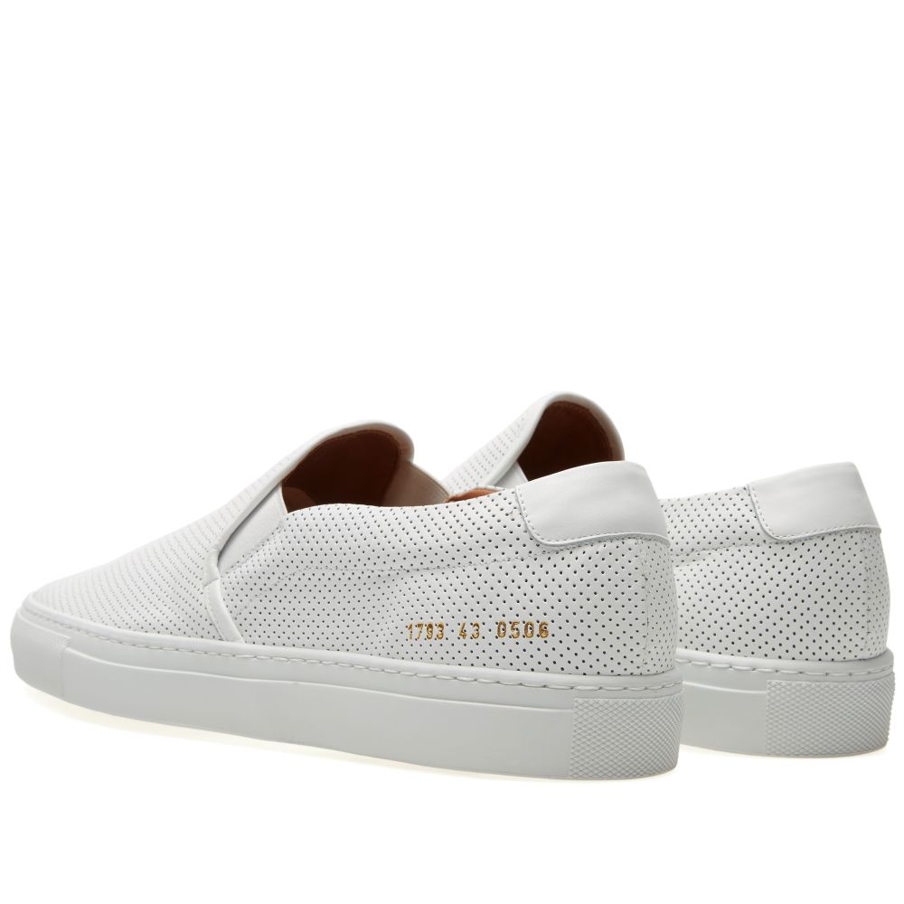 2d5c0d76213e3 Common Projects Perforated Nappa Slip On White