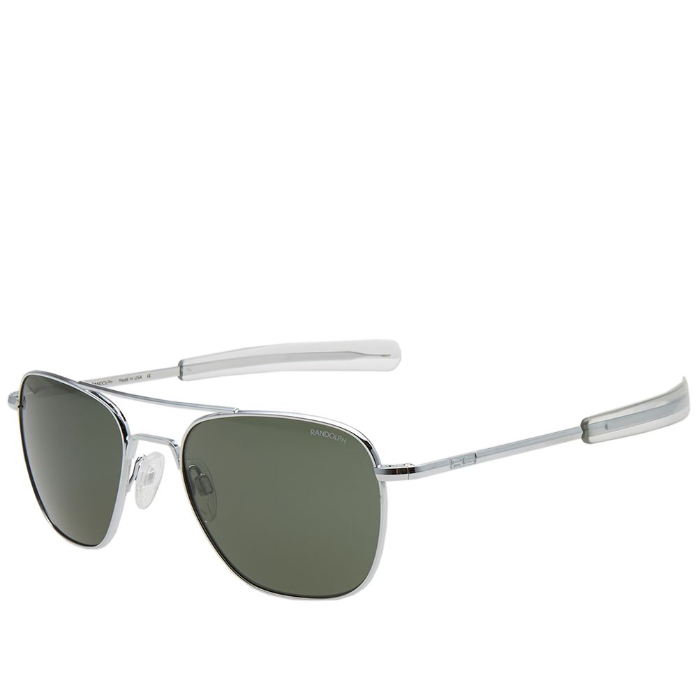 98dca3916eb Randolph Engineering Aviator Sunglasses Bright Chrome   AGX