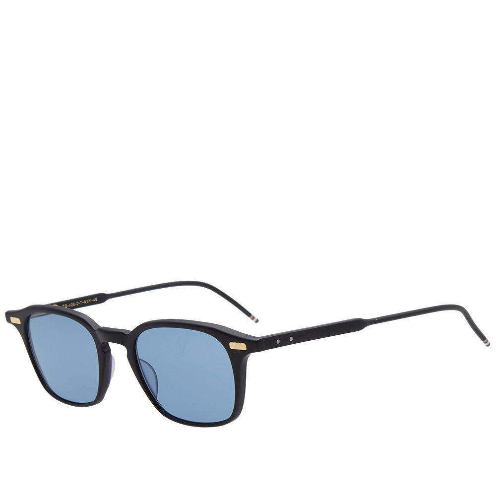 8daf31ba592 Thom Browne TB-406 Sunglasses Matte Navy   Dark Blue