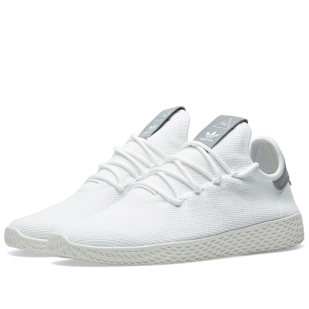 1bccc7d9e1e3 Adidas x Pharrell Williams Tennis HU White   Grey