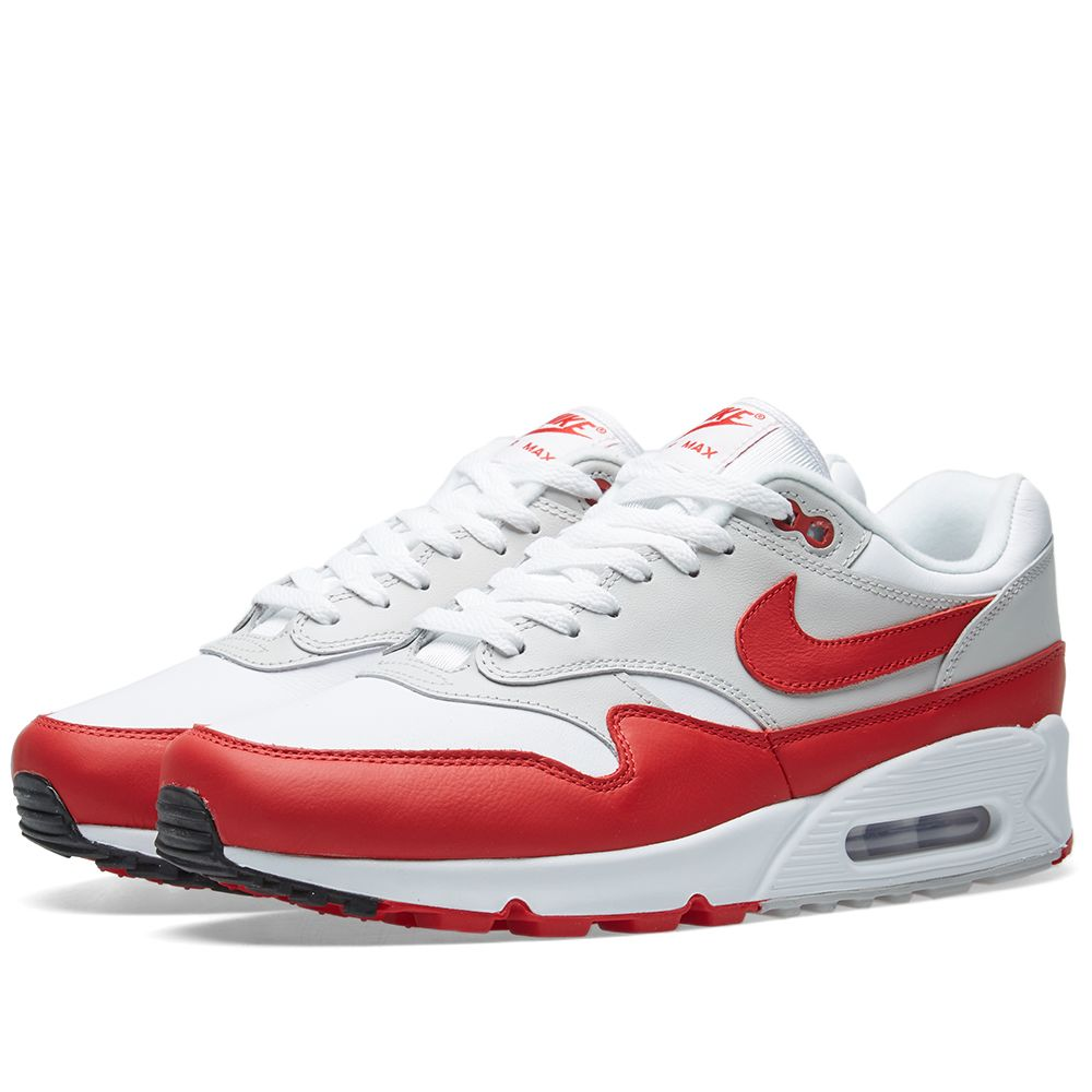 best website e6097 2859f Nike Air Max 90 1 White, Red, Grey   Black   END.