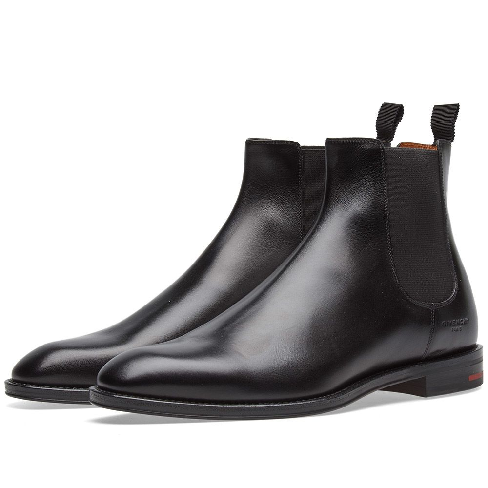 Givenchy Leather Chelsea Boot Black  e43b26de6c95
