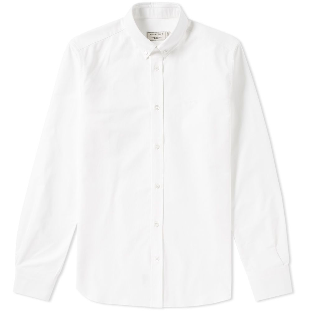 3d07ba9e Maison Kitsuné Button Down Classic Embroidered Fox Shirt. White. CA$279  CA$179. image