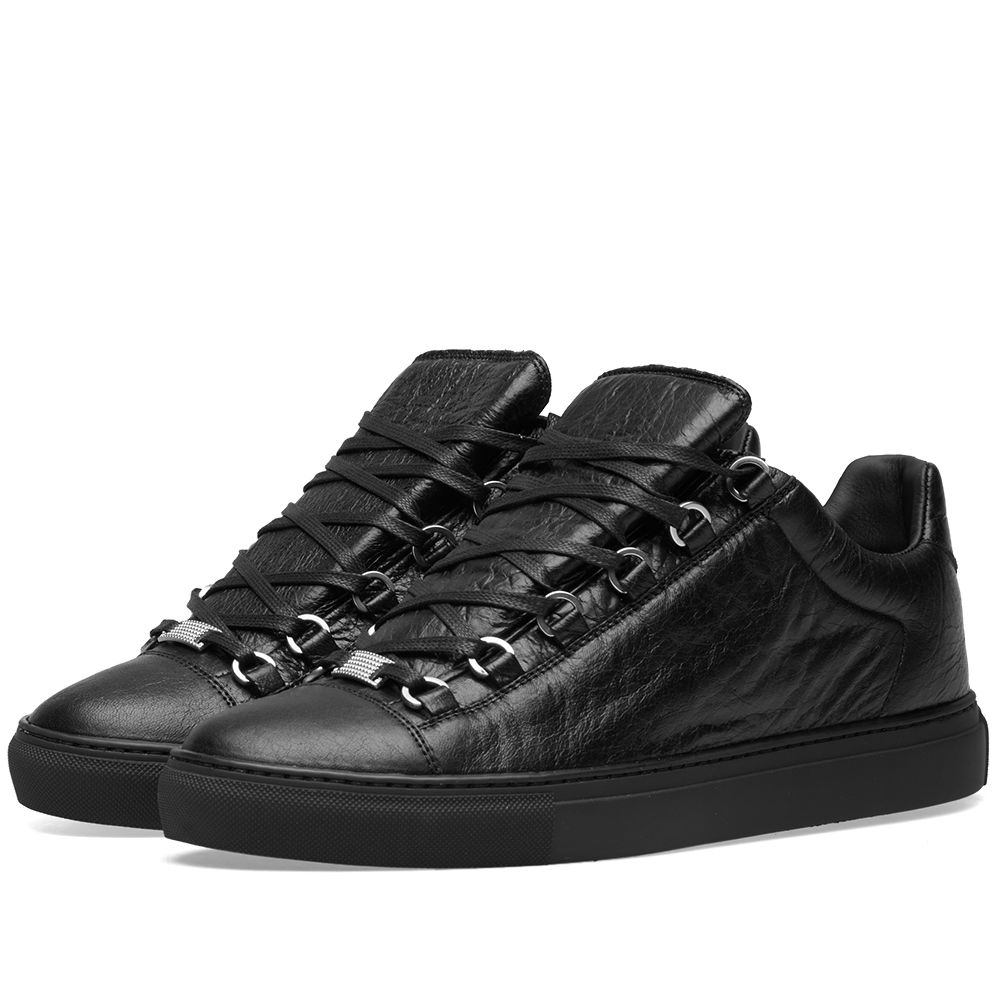 b43dd5fc9f8c Balenciaga Arena Leather Low Sneaker Black