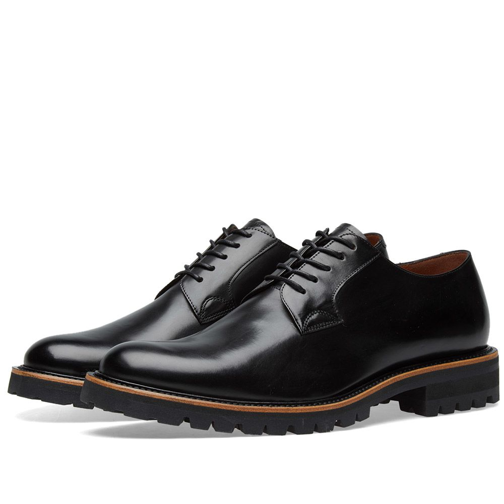 d175fa5d3d17 Dries Van Noten Commando Sole Derby Shoe Black