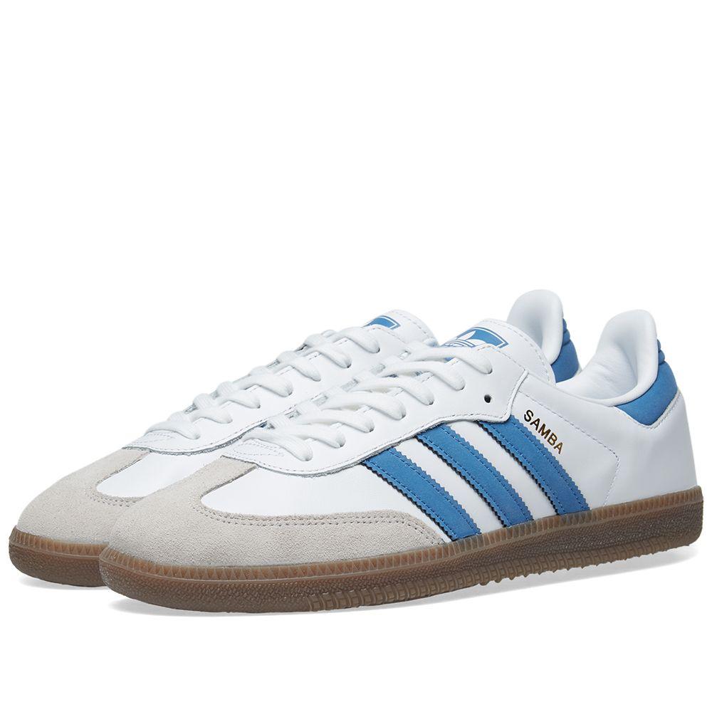 Adidas Samba OG White   Royal  60101e293