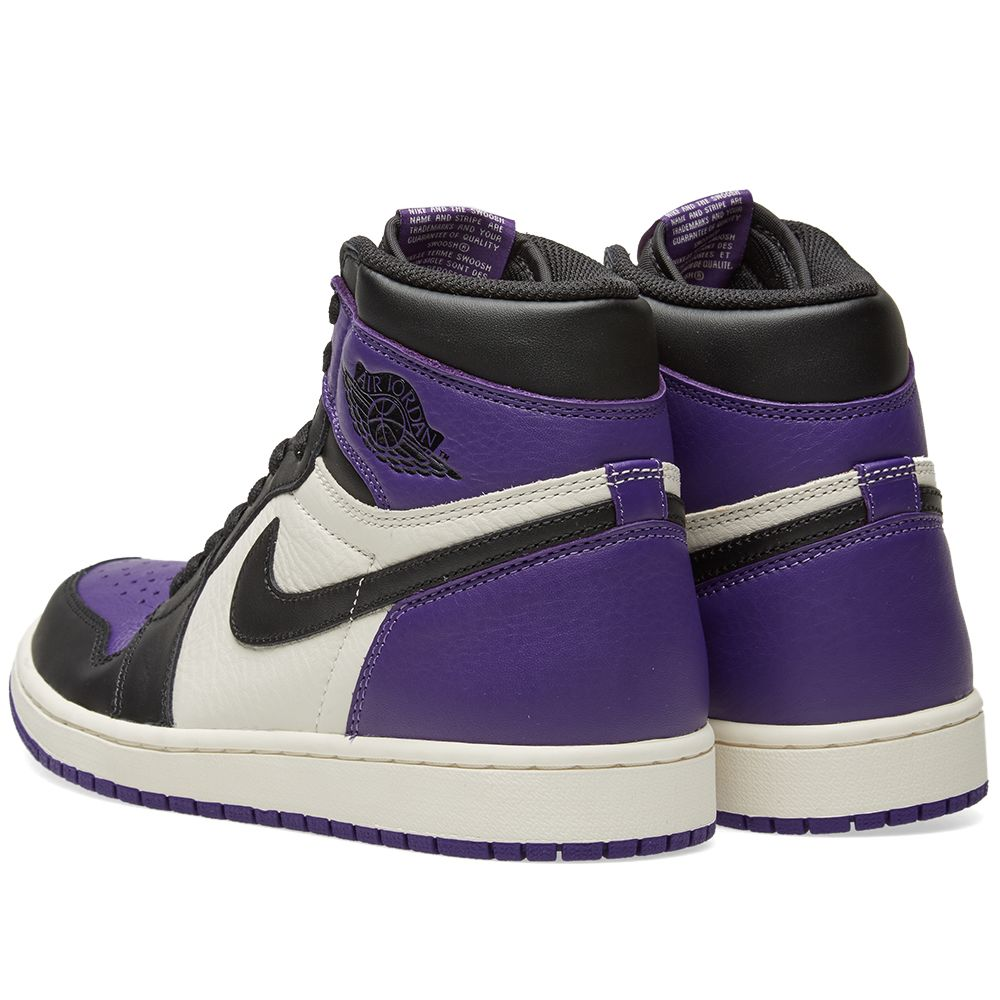 8d1ff8f1bea1 Nike Air Jordan 1 Retro High OG Court Purple   White