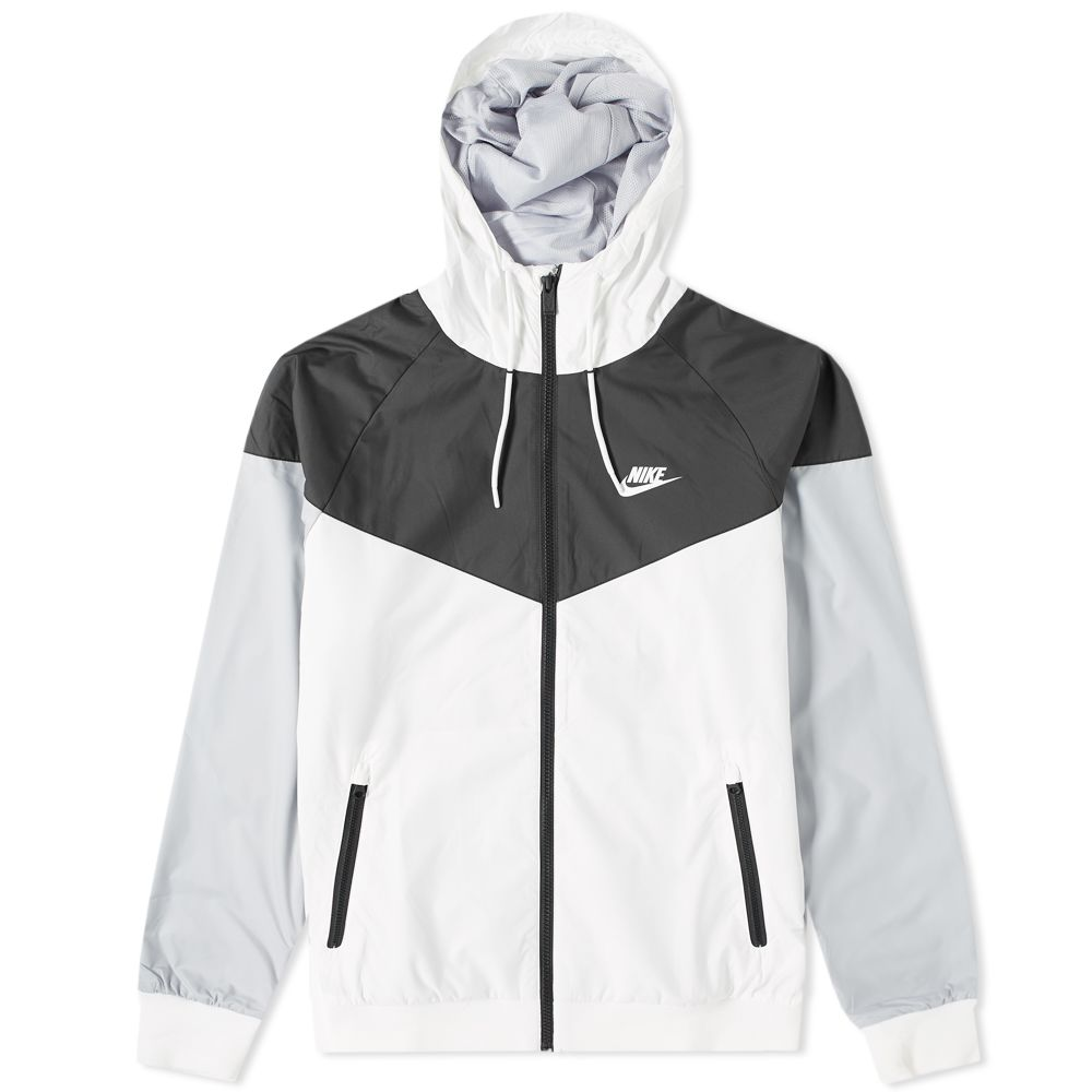 7851d17eaba393 Nike Windrunner Jacket White   Black