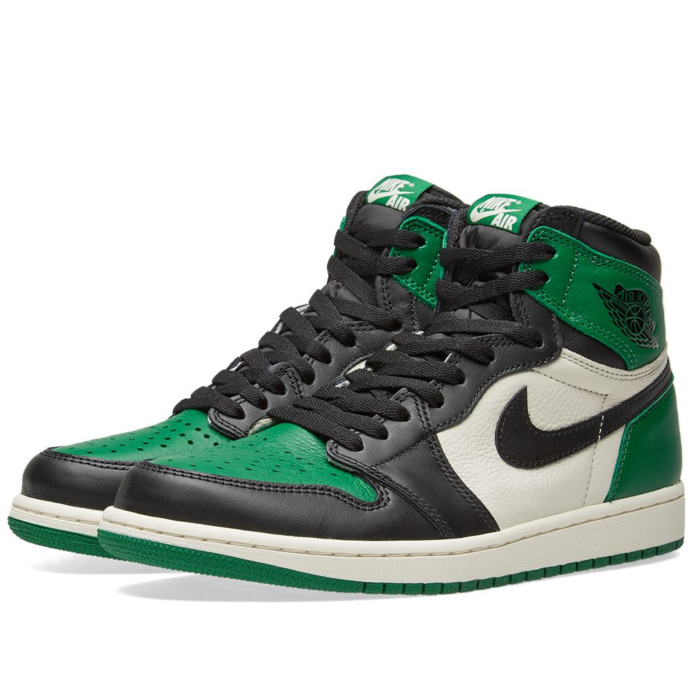 c4d4bcf17cc Nike Air Jordan 1 Retro High OG Pine Green   White