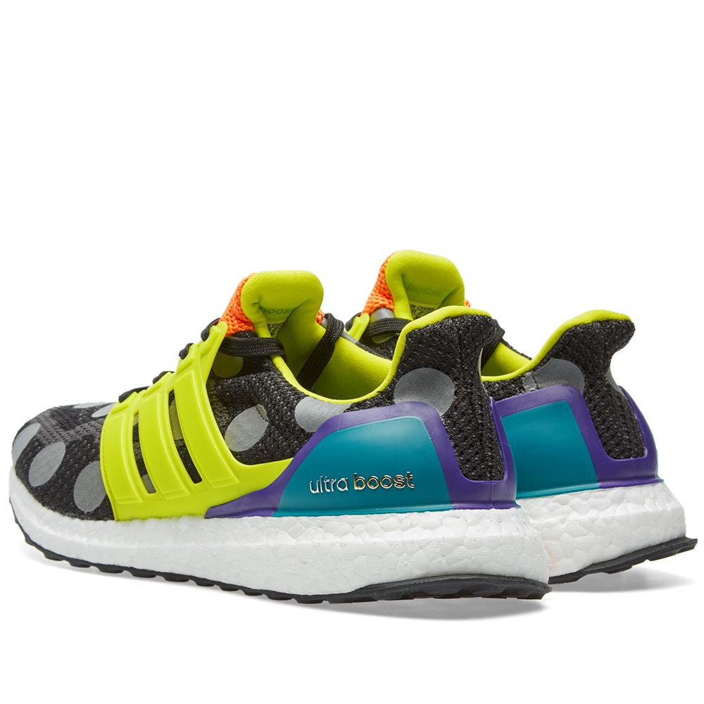 9e65eaa06ce4e Adidas x Kolor Ultra Boost Core Black   Semi Solar Green