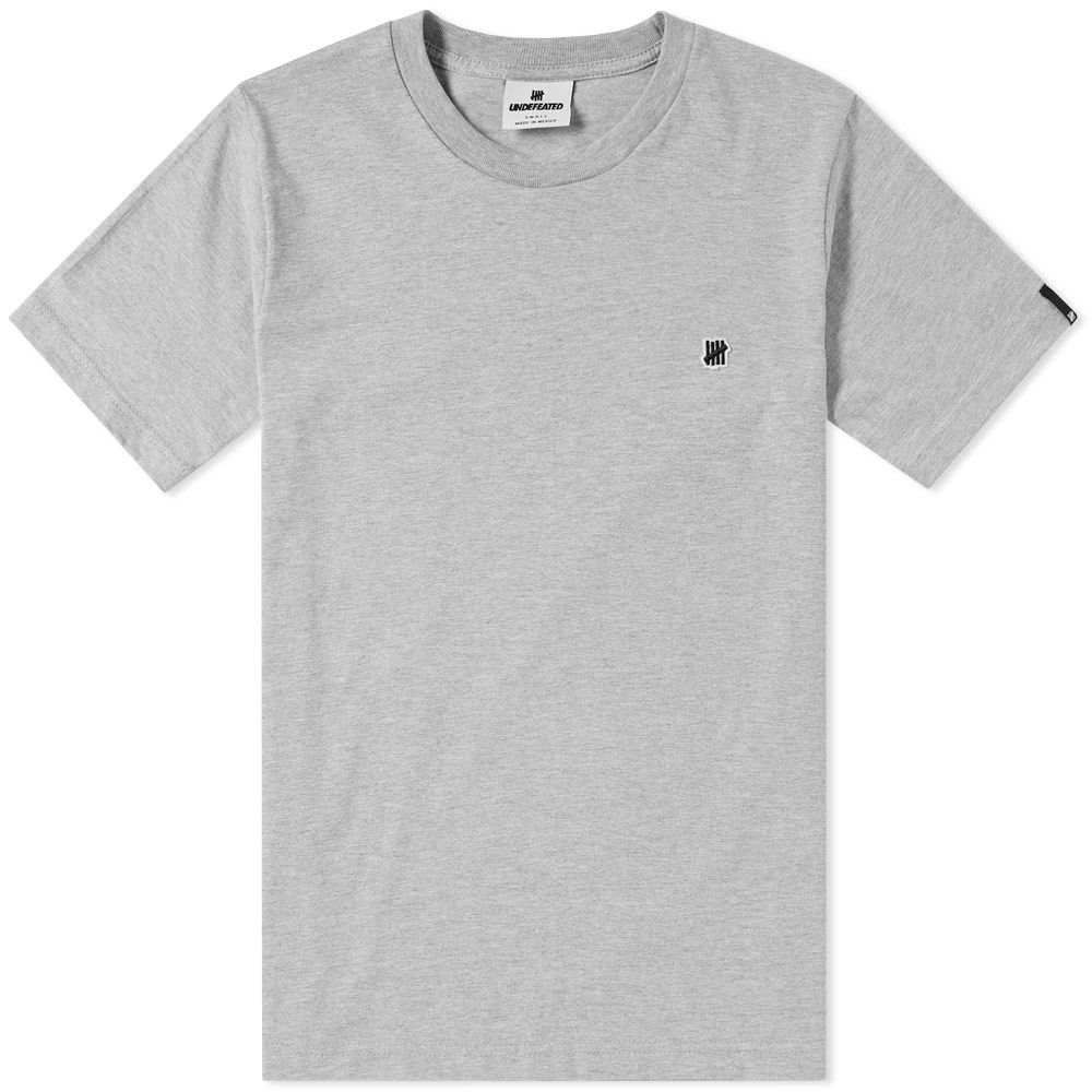 55a677007cb Undefeated Felt Chest Strike Tee Grey Heather | END.
