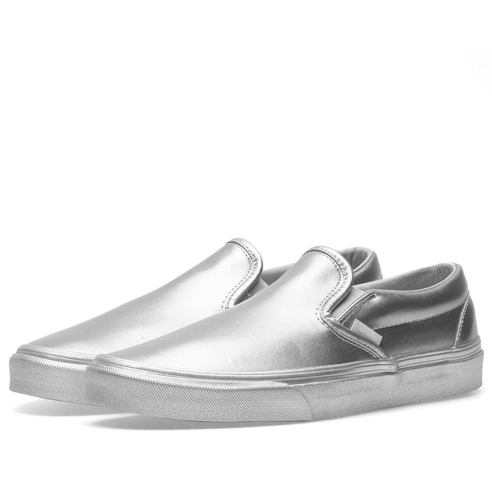 Vans Classic Slip On. Metallic Sidewall Silver. AU 95 AU 59. image cd985b8d0