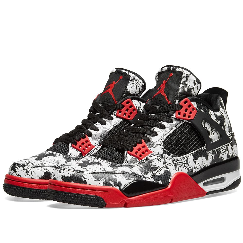 c9e15482266ee Air Jordan 4 Retro Black   Fire Red