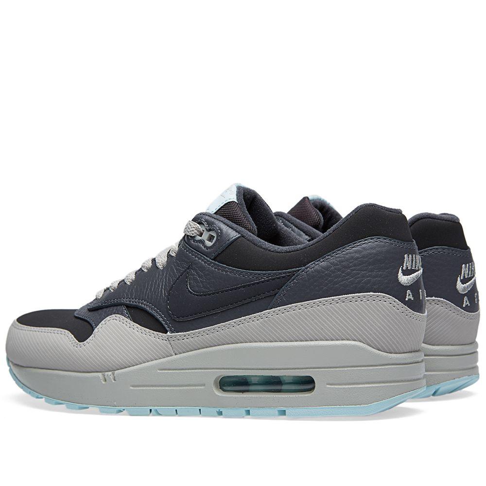 buy online 4926f c5629 Nike Air Max 1 Leather Dark Ash   Dark Grey   END.