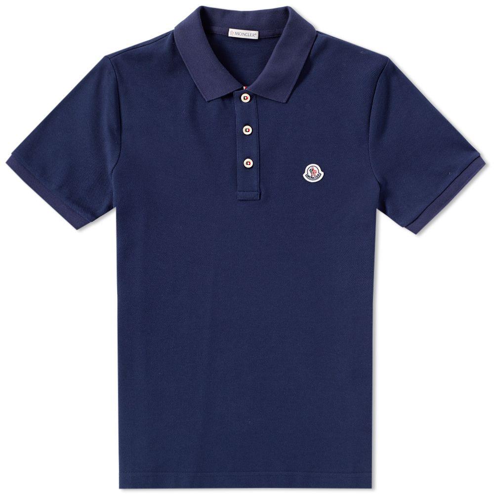4d4ab8850 Moncler Classic Polo Blue