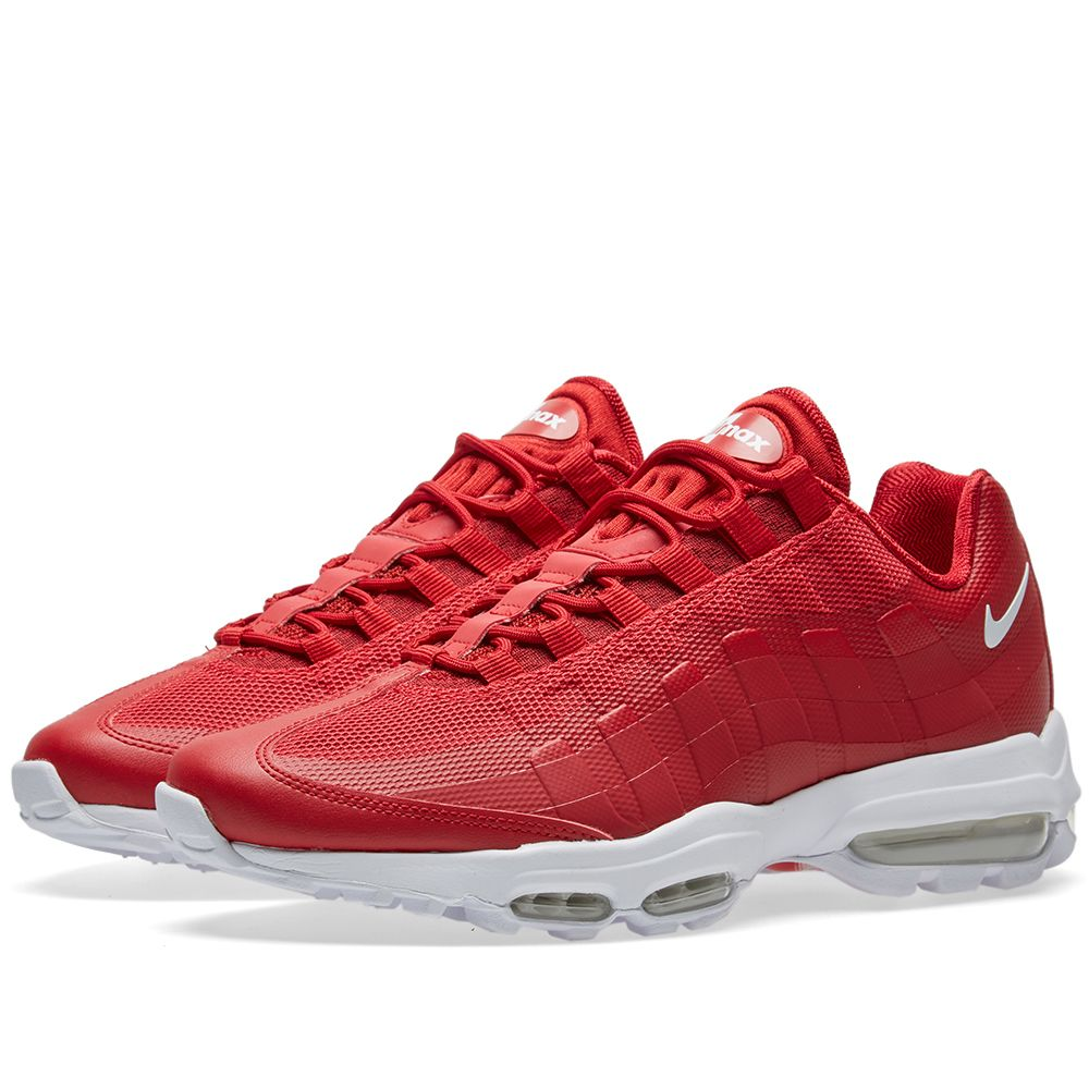 2fba0d512b9d Nike Air Max 95 Ultra Essential Gym Red   White