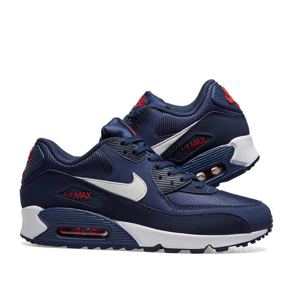 premium selection f1023 40e7e Nike Air Max 90 Essential Midnight Navy, White  Red  END.