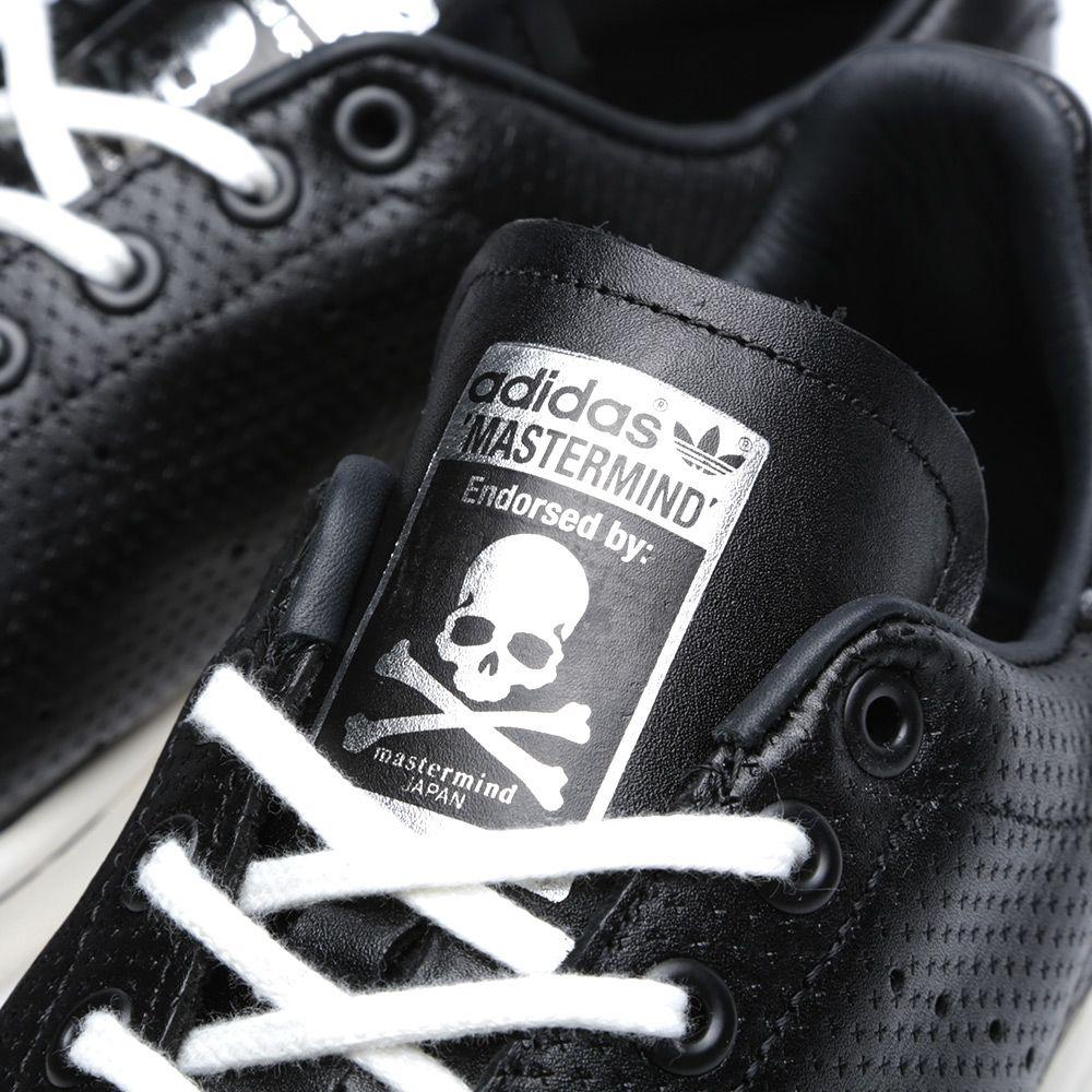 87a1892b7b04b Adidas Consortium x Mastermind Japan Stan Smith Black   White Vapour ...