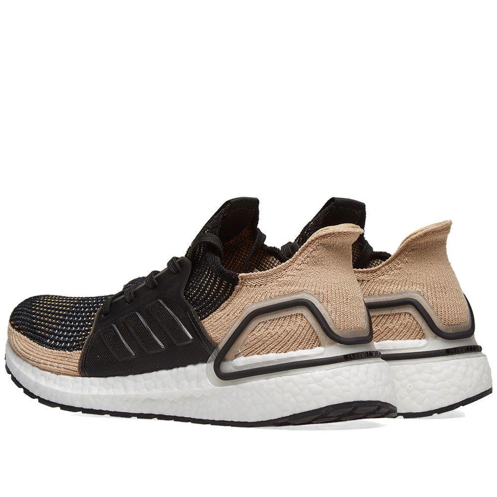 Adidas Ultra Boost 19 Core Black Raw Sand Amp Grey End