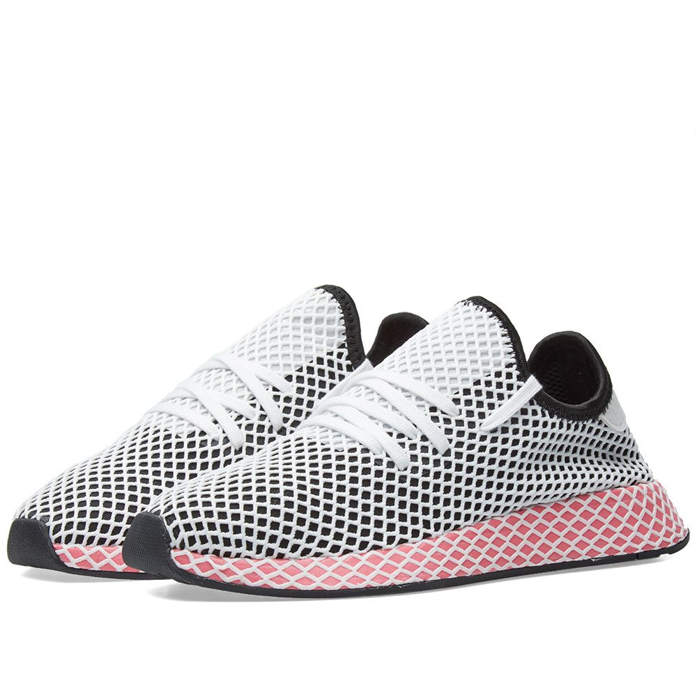 timeless design 14080 86aac Adidas Deerupt Runner W. Black   Chalk Pink. DKK695 DKK395. image