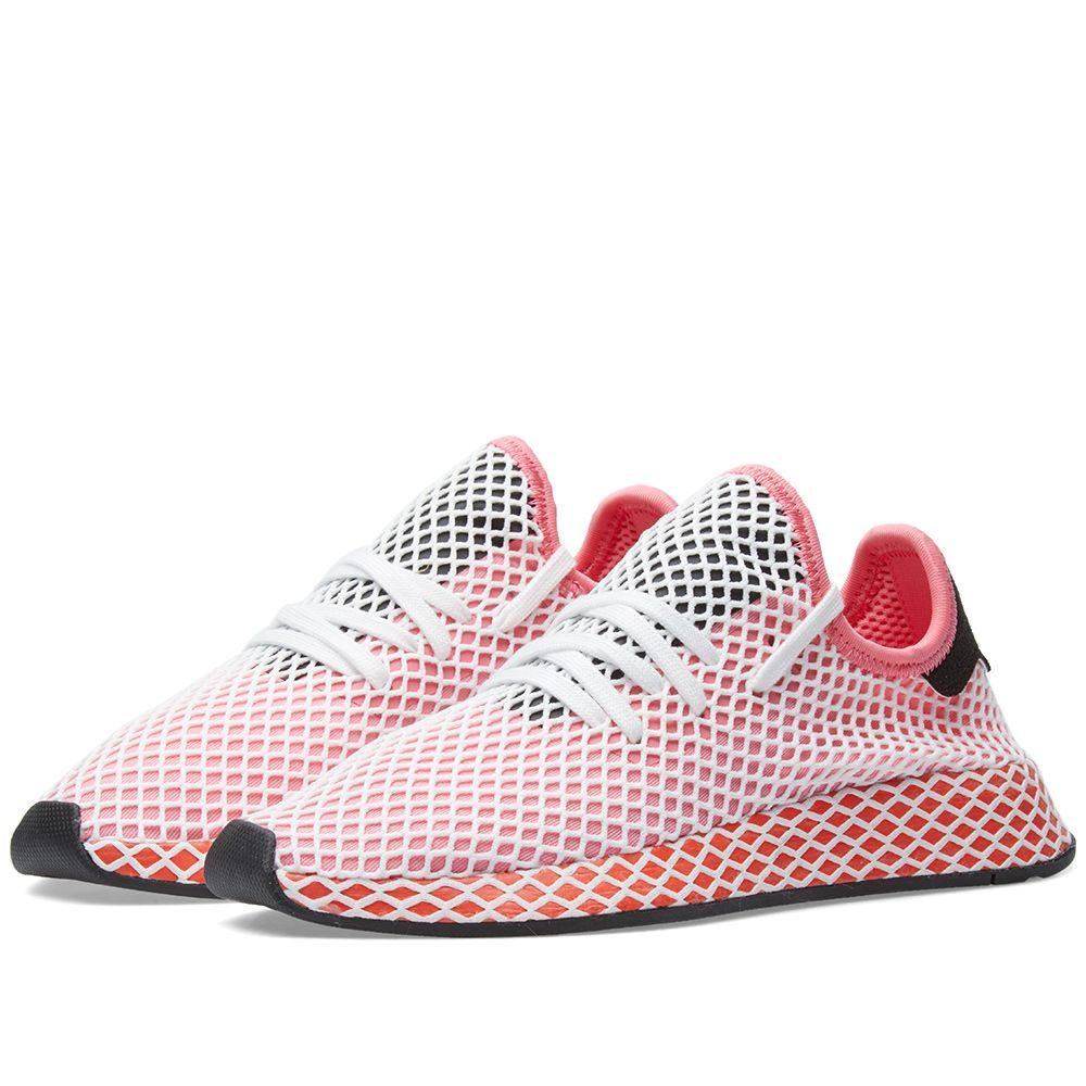 newest 21ede b8f31 Adidas Deerupt Runner W Chalk Pink  Bold Orange  END.