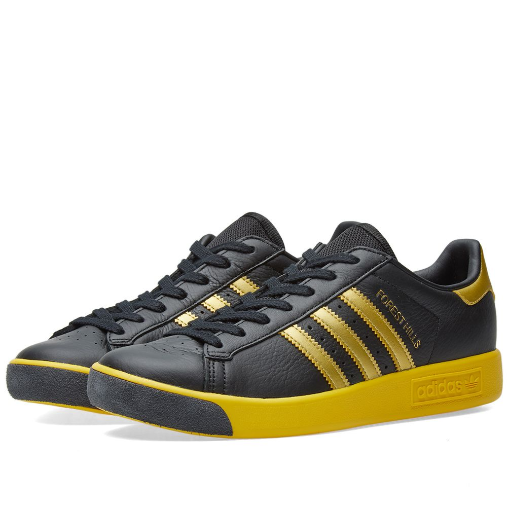 lowest price 39853 3f133 Adidas Forest Hills Black, Gold  Yellow  END.
