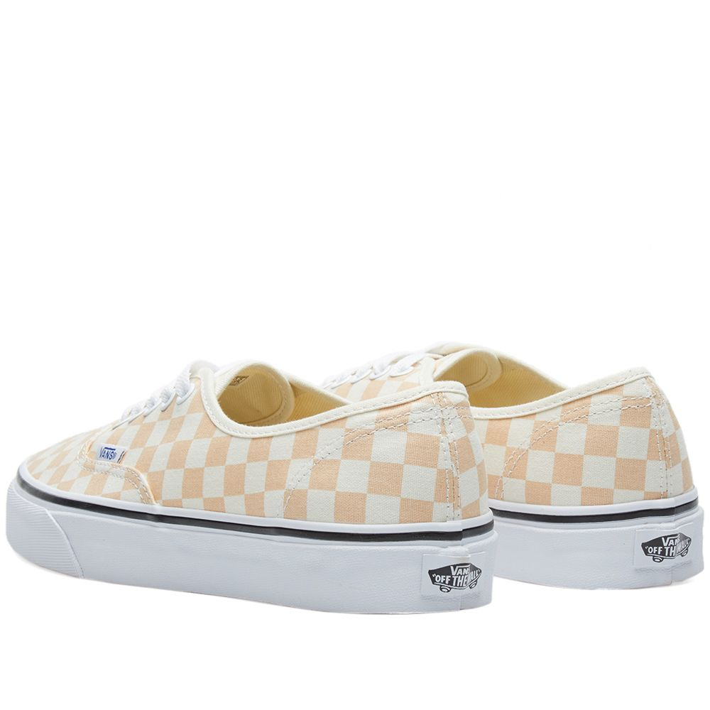 Vans Authentic Checkerboard Apricot Ice   Classic White  14610fec7
