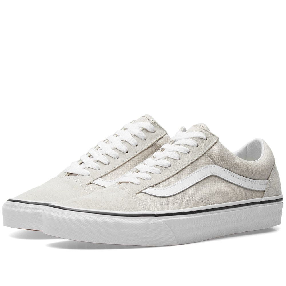 a5463b8450 Vans Old Skool Silver Lining   True White