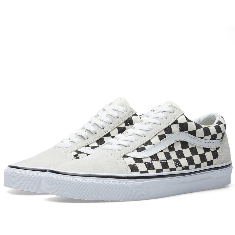 b5d92104d56c Vans Old Skool Checkerboard Black   White
