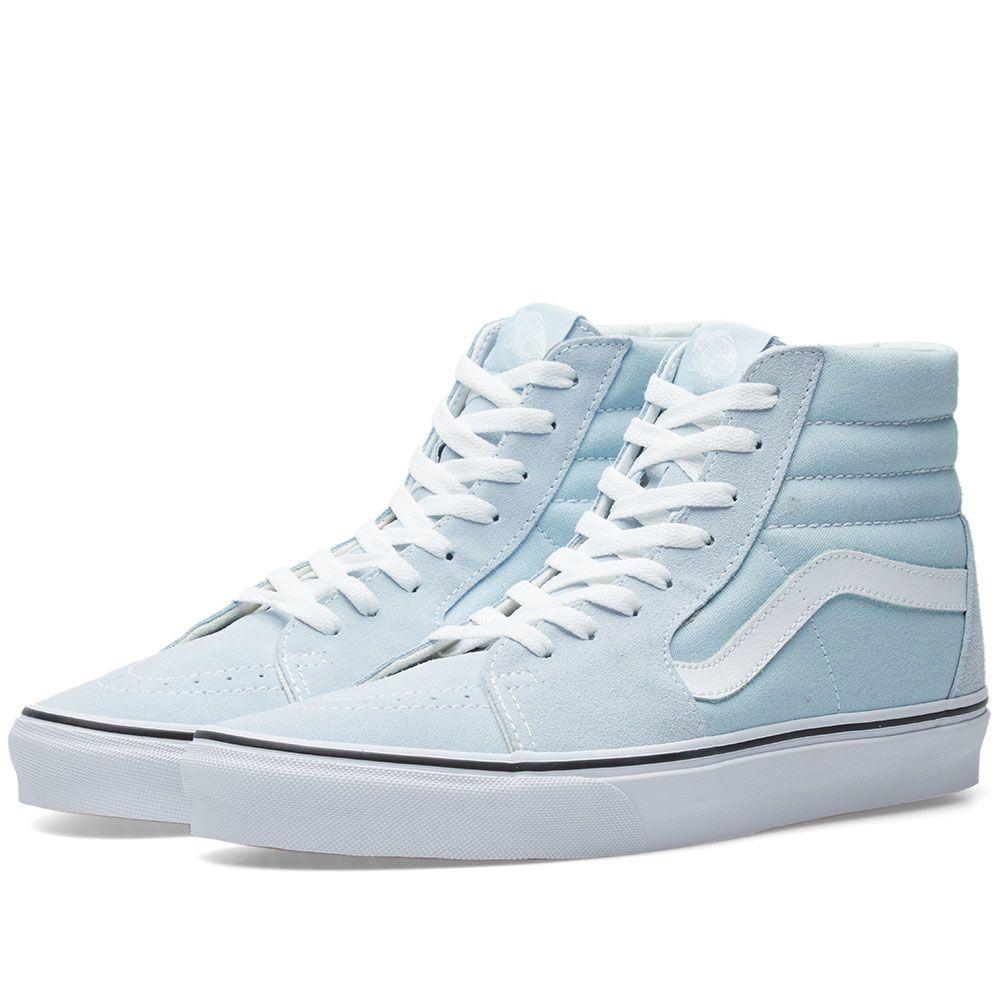 1bda97b28f2c Vans Sk8-Hi Baby Blue   True White