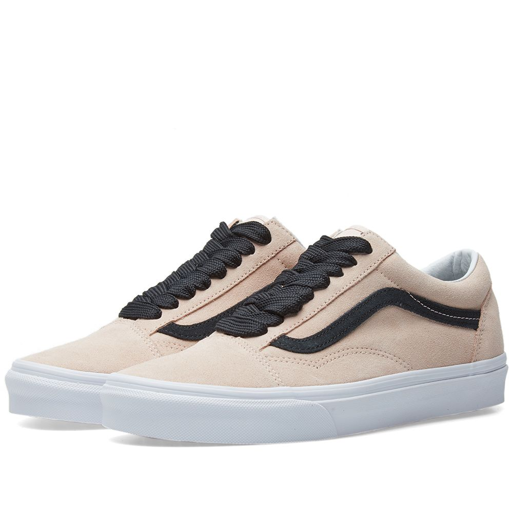 Vans UA Old Skool Oversized Lace Sepia Rose   Black  03ea3b658