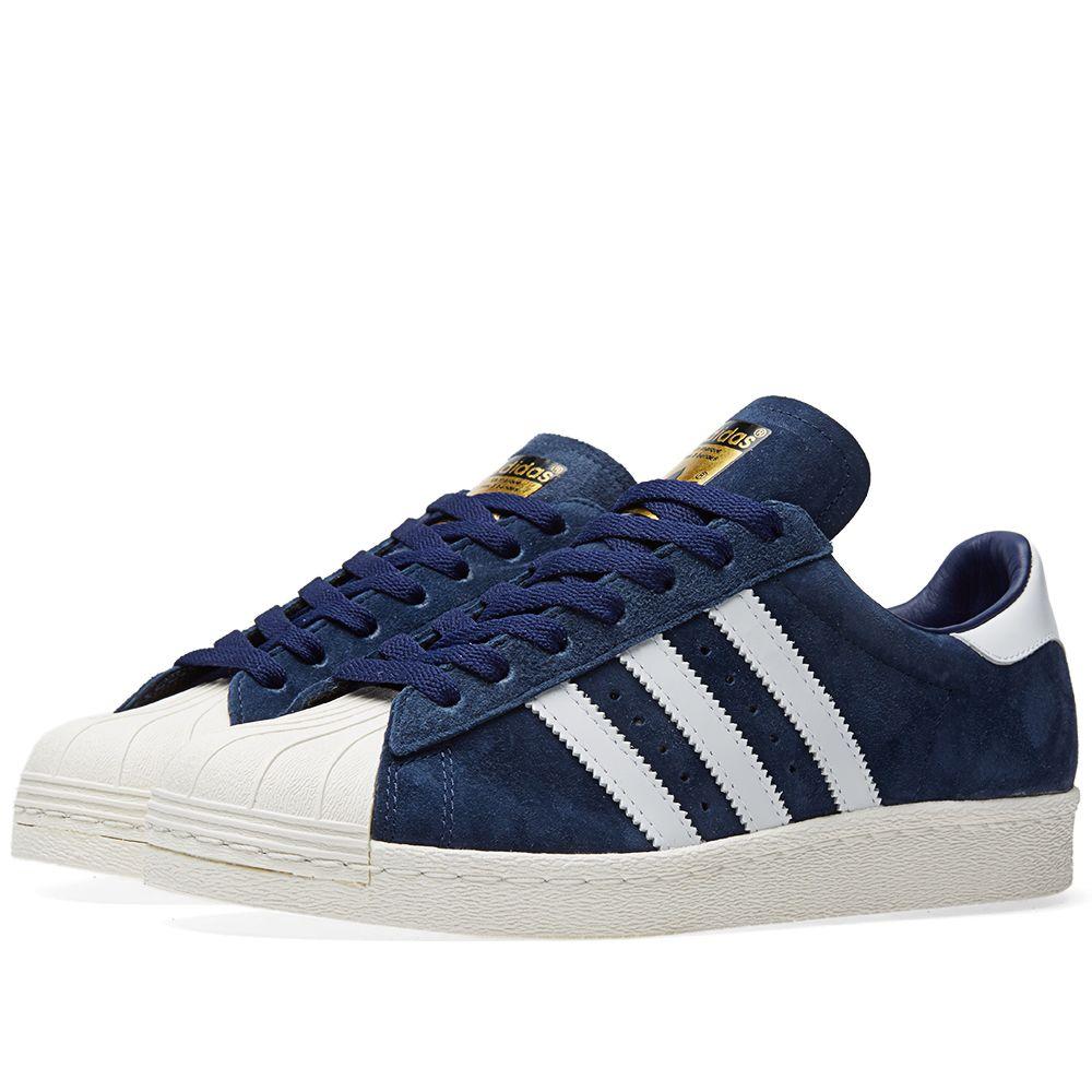 Adidas Superstar 80s DLX Suede Collegiate Navy   White  3d4544f820