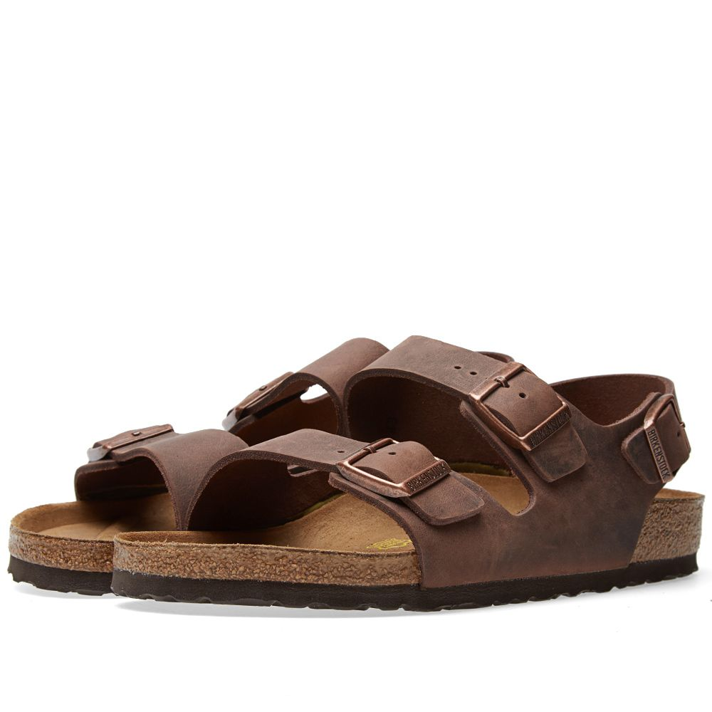 4199102181a4 Birkenstock Milano Habana Oiled Leather