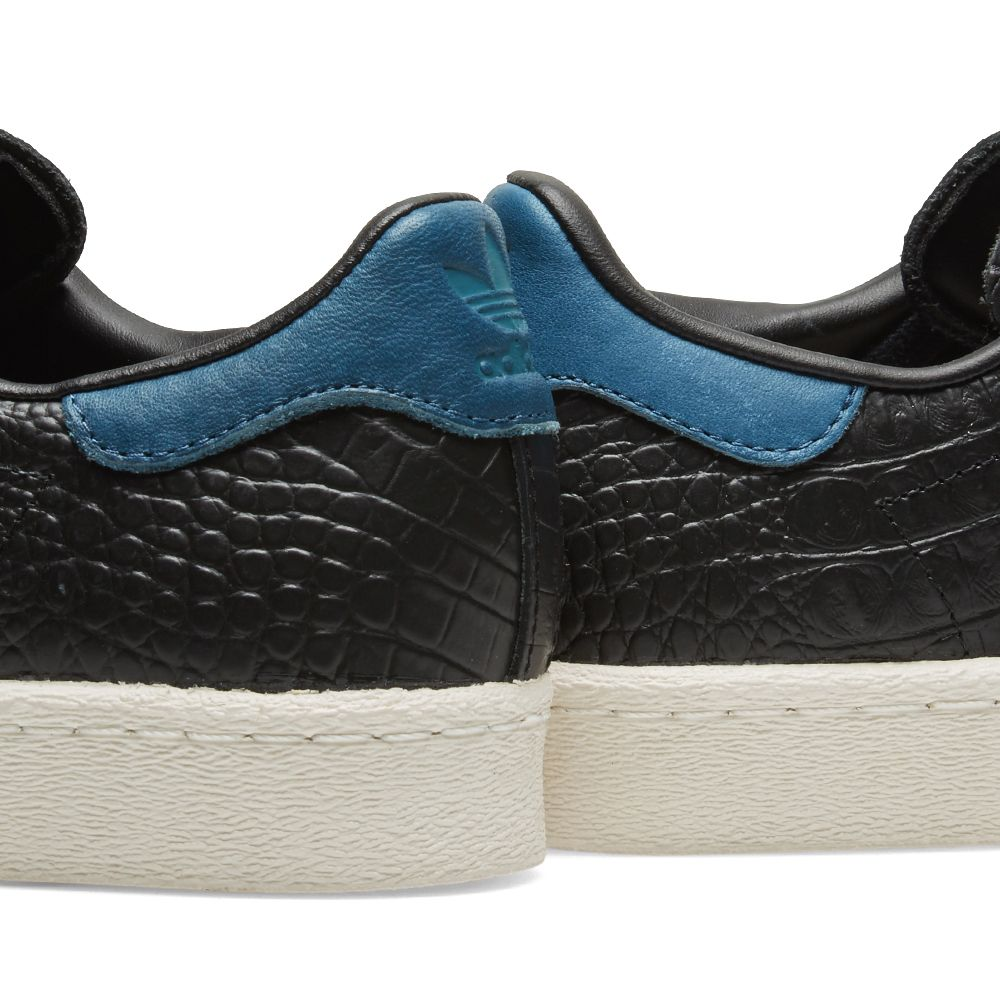 new concept ecd1a fbd2b Adidas Superstar 80s. Core Black  Blue