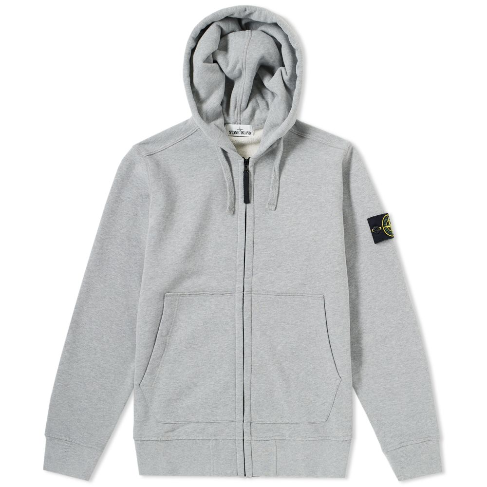 76dfcee96d81 Stone Island Garment Dyed Zip Hoody Grey Marl