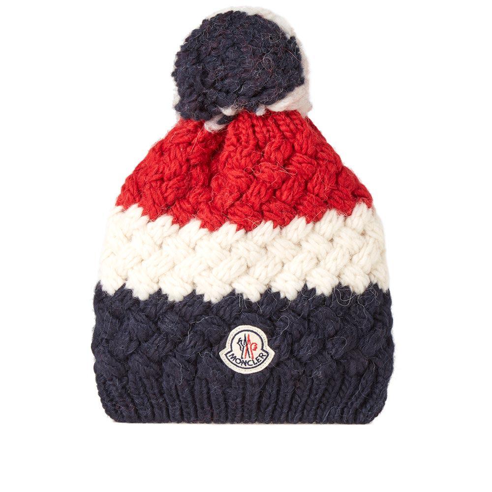 4873b1949ac homeMoncler Tricolour Stripe Bobble Hat. image. image. image