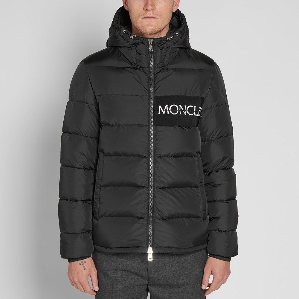 a47386537bef Moncler Aiton Logo Hooded Down Jacket Black