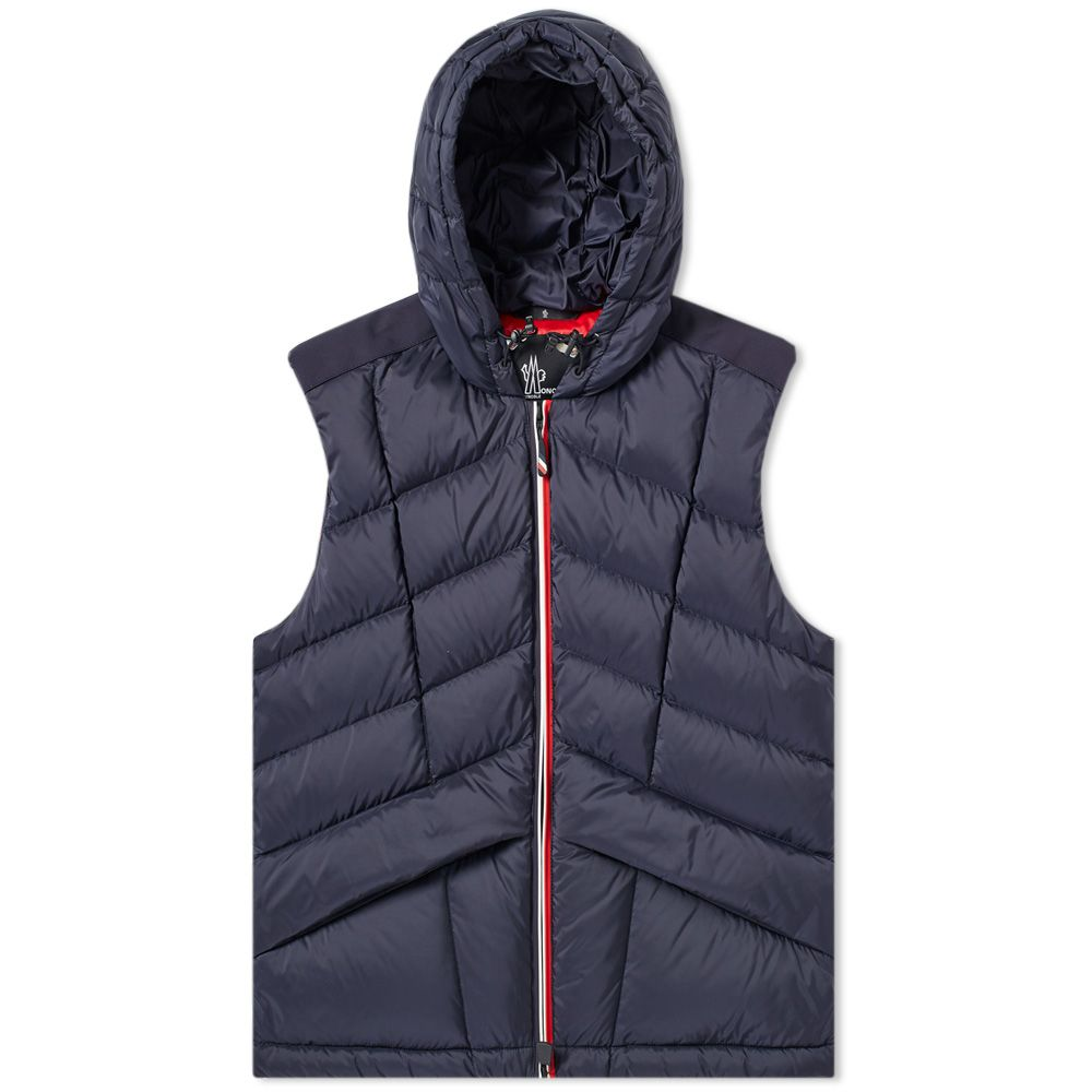 83c90ad582e Moncler Grenoble Rossiniere Hooded Down Gilet Navy