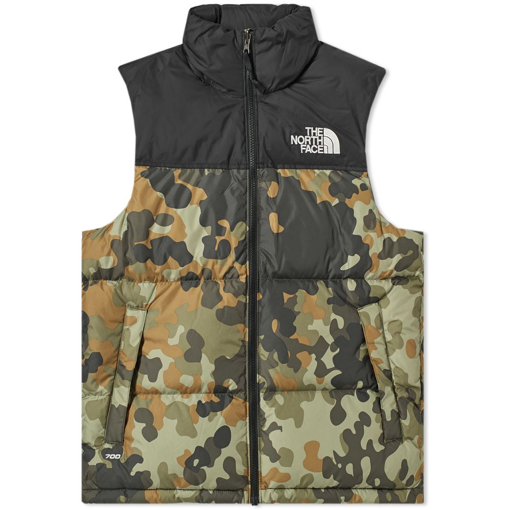 0fc14abe83 The north face retro nuptse vest taupe green camo end jpg 1000x1000  Camouflage north face vest
