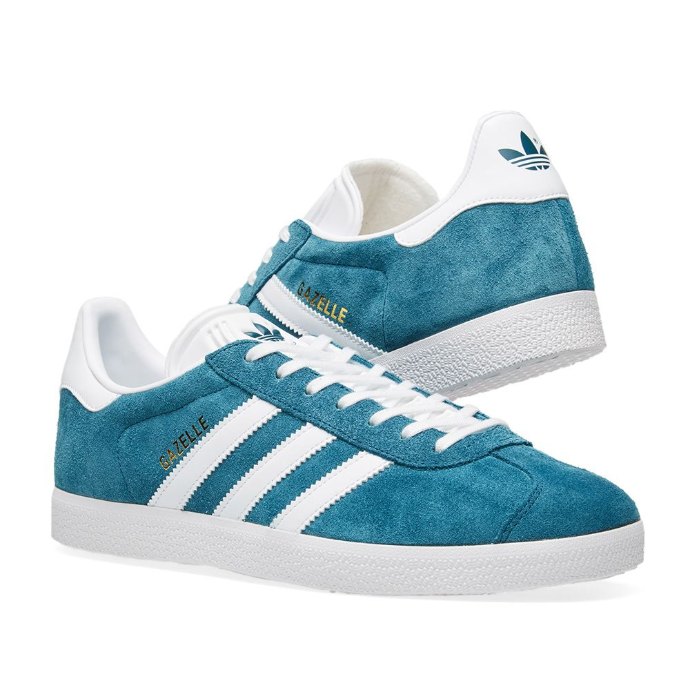 best website 14c8a 9522c Adidas Gazelle Petrol Night  White  END.