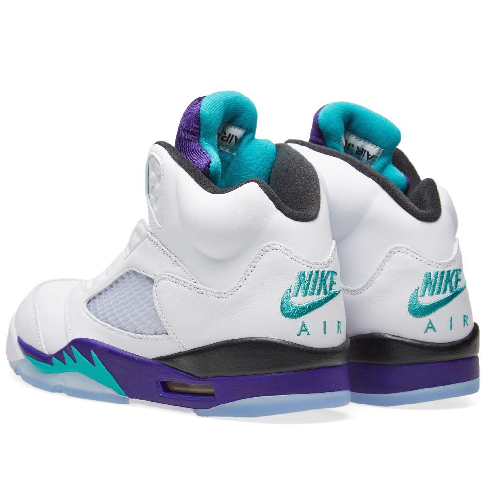 Air Jordan 5 NRG  Fresh Prince  White   New Emerald  4a577c2de