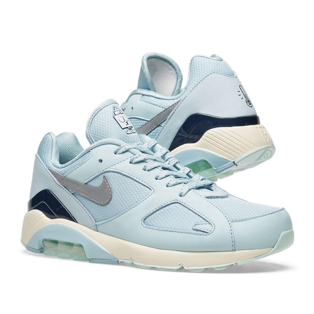 8efad6e19611ac Nike Air Max 180 Ocean Bliss   Metallic Silver