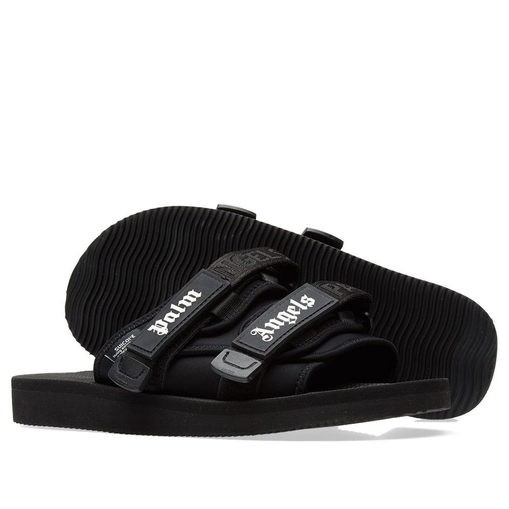 cc49a10751ca Palm Angels x Suicoke Slides Black   White
