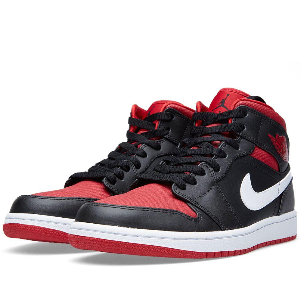 f4f5db2be21a Nike Air Jordan 1 Mid Black   Gym Red