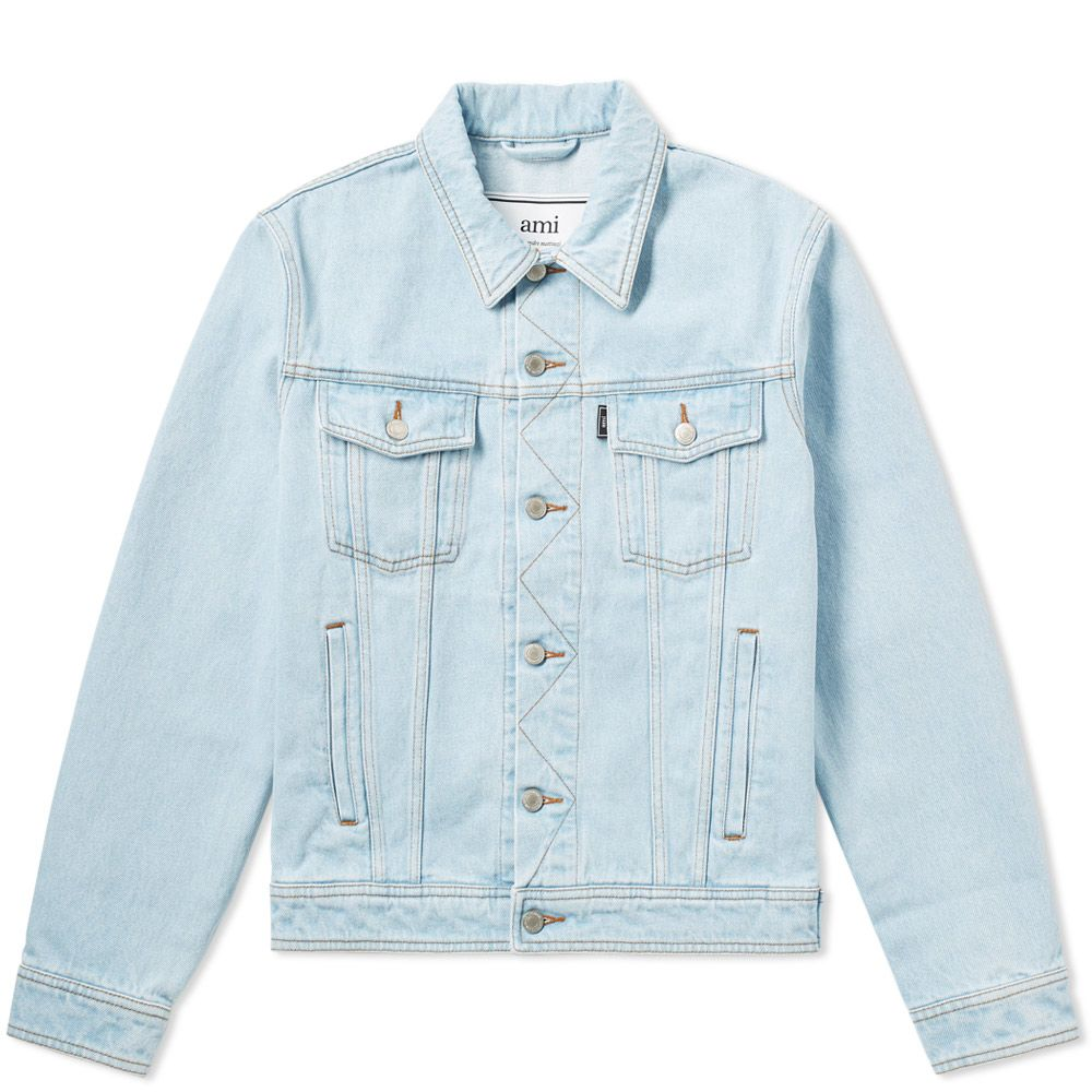 b0406144f8 AMI Denim Jacket Light Blue