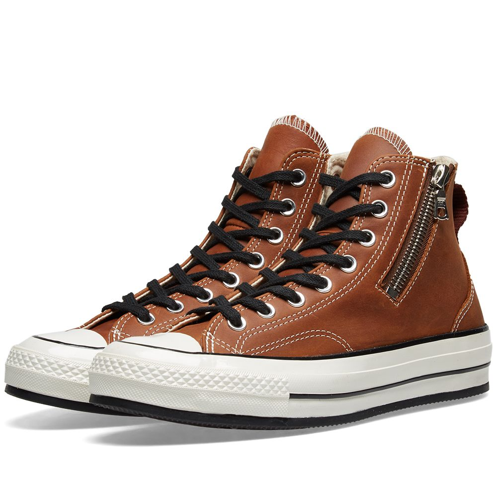 bbd63d70c01e Converse Chuck Taylor 1970s Riri Zip Brown Leather