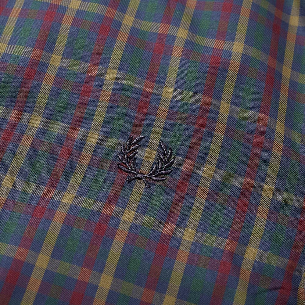134605940 Fred Perry Twill Check Shirt Dark Airforce | END.